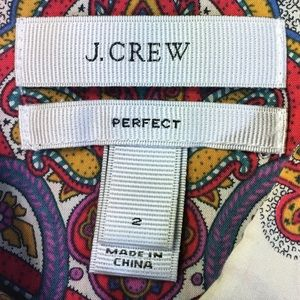 J. CREW Tops - J. CREW PERFECT 'Liberty of London' Indian Red